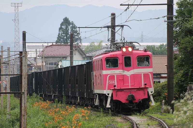 3 鉱石列車 504号機 影森近くにて その1