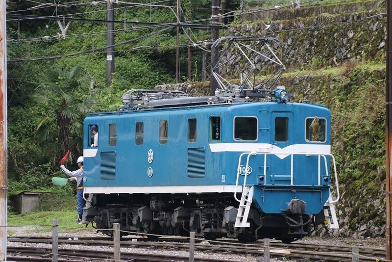 2 鉱石列車 102号機 採石場内 その1