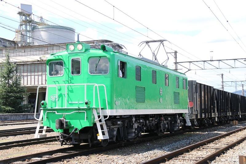 4  秩父鉄道 武州原谷駅にて 505号機 回送列車  その2