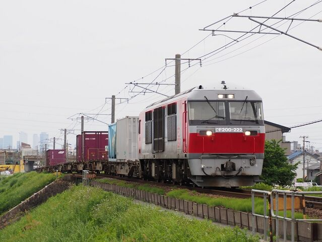 1  DF200-222 蟹江~永和間 コンテナ列車 その2