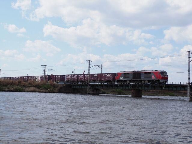 7 DF200-222 日光川橋梁にて その2