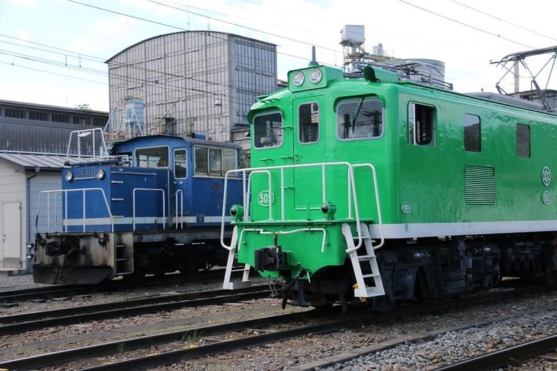 4  秩父鉄道 武州原谷駅にて 505号とDD512 その1