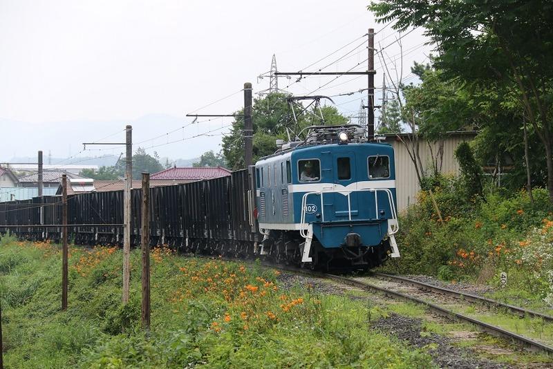2 鉱石列車 102号機 影森近くにて その1
