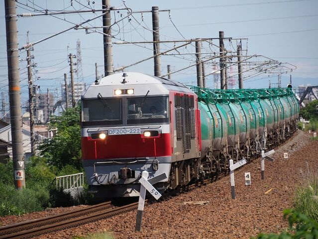 4  DF200-222 蟹江踏切にて 八田~春田間 その2