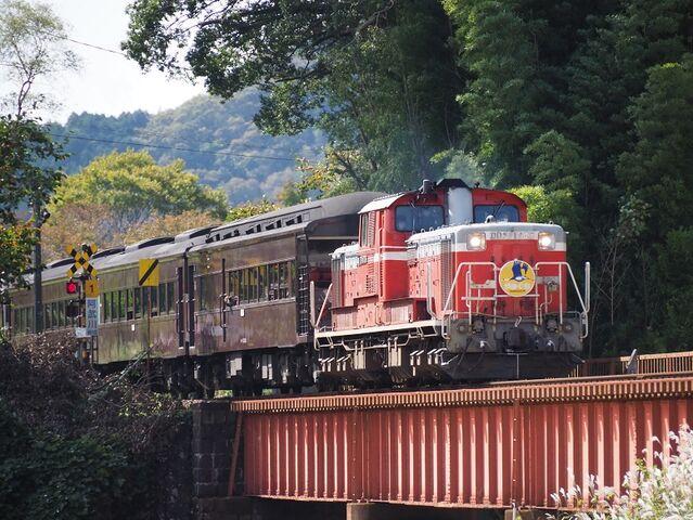 1 DD51-1043 長門峡発車 その1