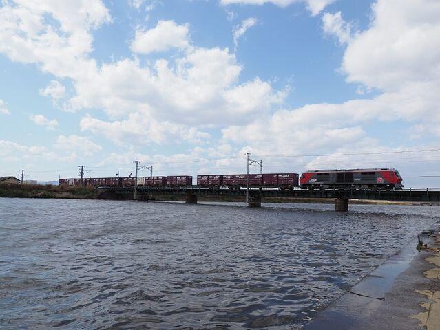 7  DF200-222 日光川橋梁にて その3