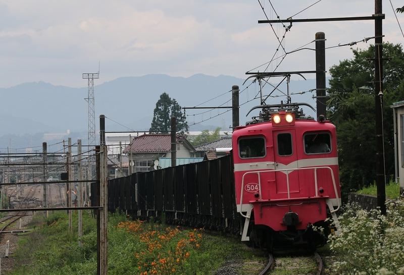 3 鉱石列車 504号機 影森近くにて その2