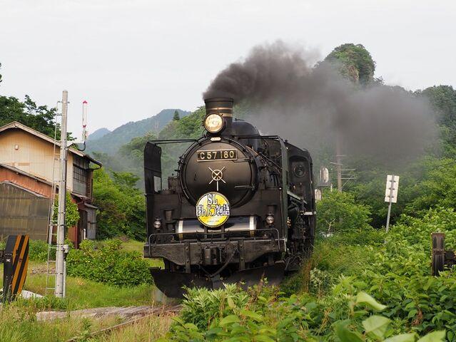 8 C57-180 津川駅入線 その3