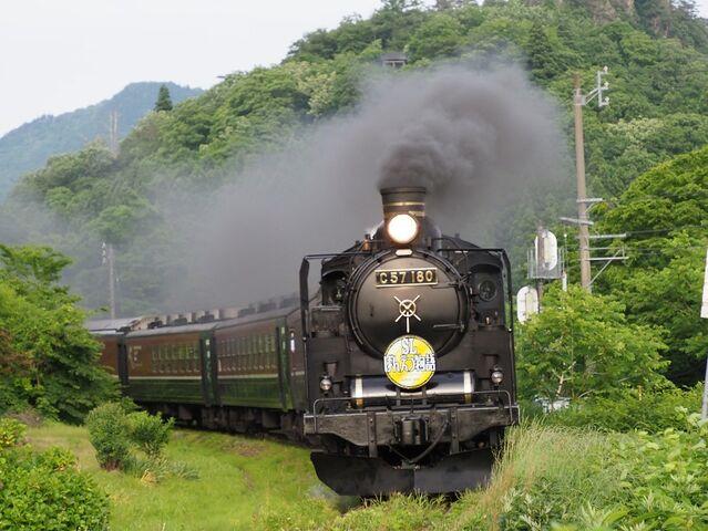 8 C57-180 津川駅入線 その2