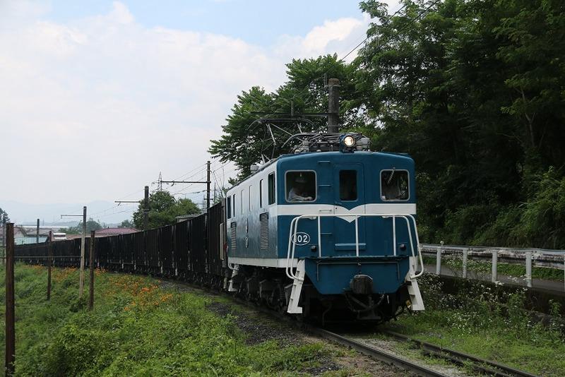 2 鉱石列車 102号機 影森近くにて その2