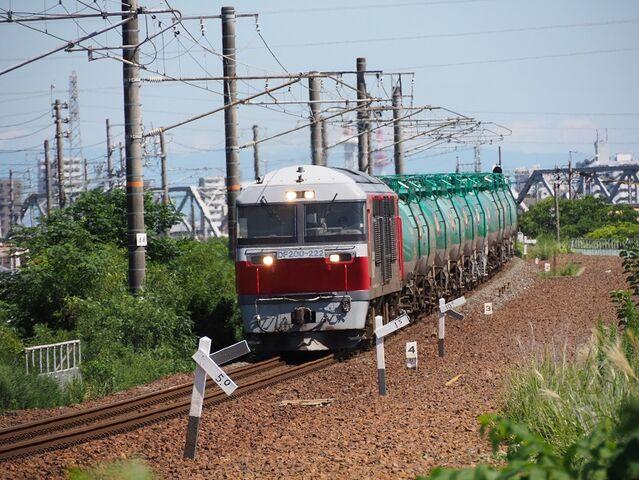 4  DF200-222 蟹江踏切にて 八田~春田間 その1