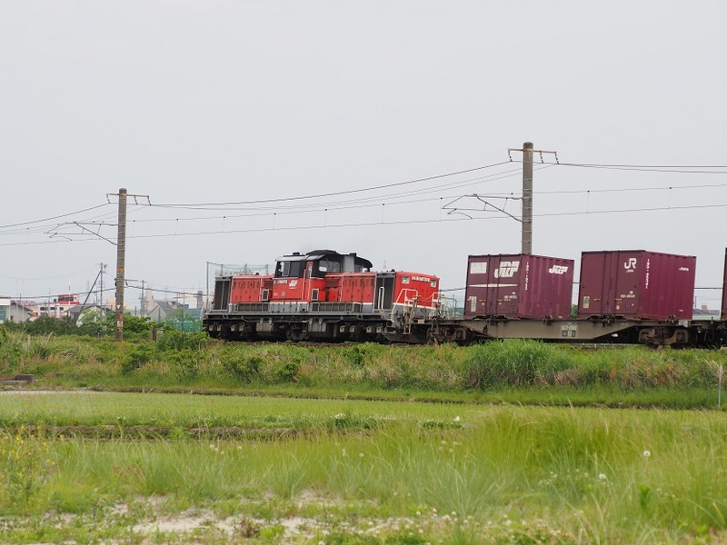 8 DD51-1801 コンテナ列車 白鳥信号所にて その3