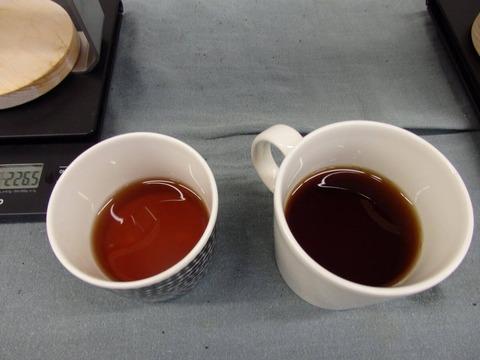 バートドリッパー 試飲体験会 コーヒーの色の違い