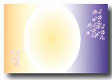 オリジナルラベル焼酎デザイン2紫黄アクセント