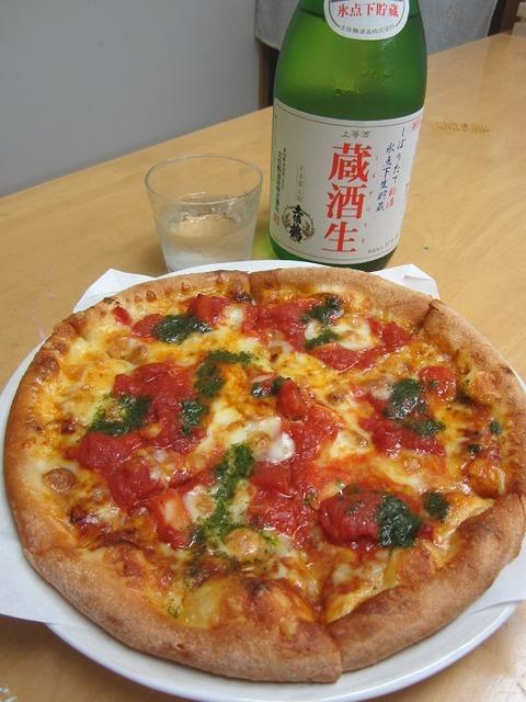地酒と食材との相性、昨夜はピザで挑戦・・。