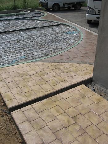 スタンプコンクリートの完成