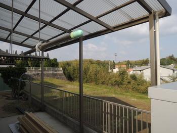 さし掛け、テラス屋根と前囲い