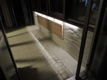 ガーデンルームの間接照明点灯