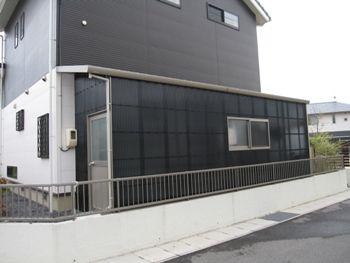 さし掛け(さしかけ)波板テラス倉庫