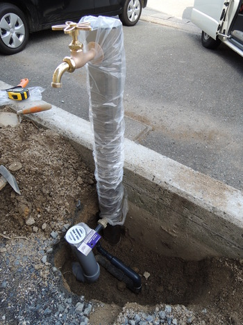 お洒落な立水栓