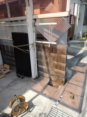 既存の柱を撤去