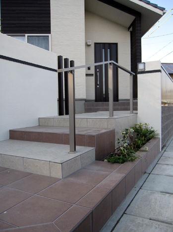 2色の階段