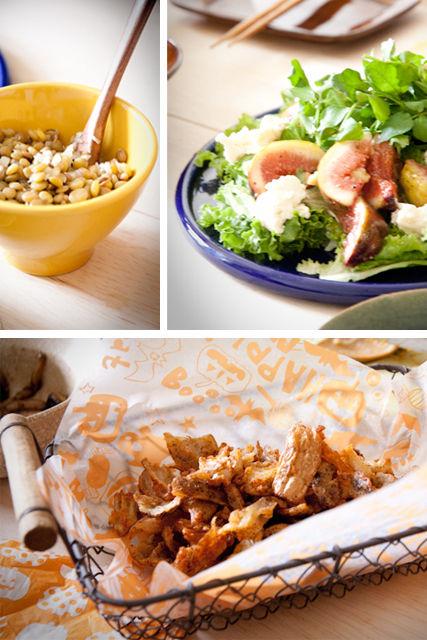 サラダとれんこんとレンズ豆