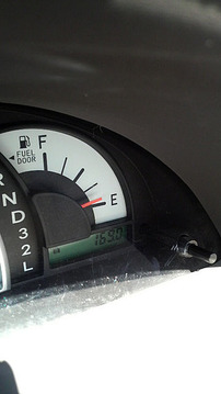ガソリン危なかった