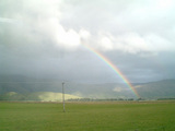 でかい虹だ