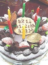 大きいケーキは久しぶり