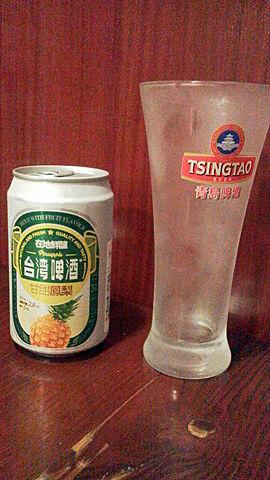 台湾のパイナップルビール
