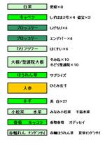 2006秋作表