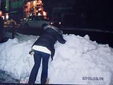 雪に舞い上がるボク