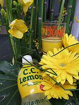 お花に囲まれたCCレモン