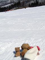 やってきました。スキー場