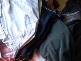 雑な洗濯物っす。