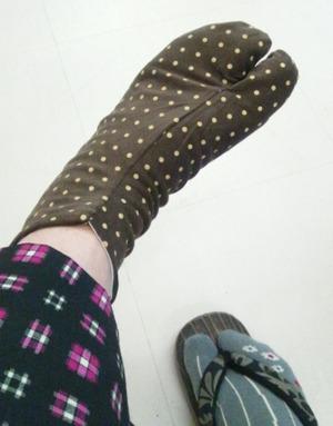 かわいい柄の足袋を作ってみませんか?