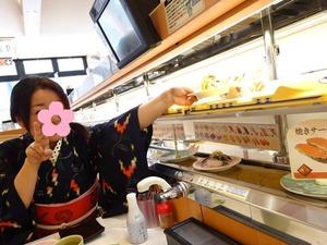 回転寿司の新幹線