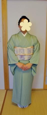鮫小紋で卒業式へ (1)