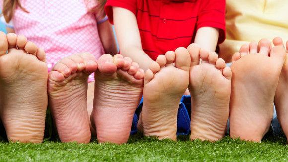 幼児の足の裏