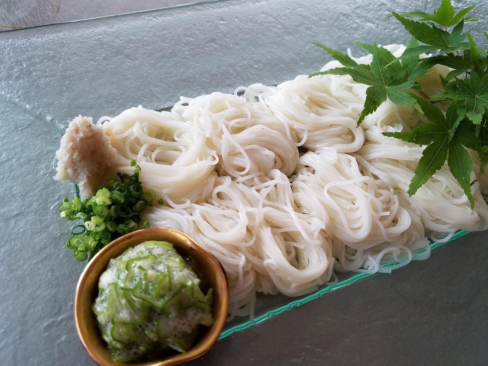 おくらと素麺