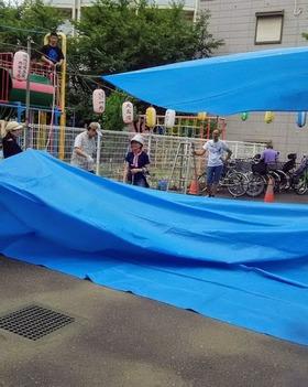 土合小20180823西堀氷川祭り1