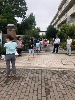 田島小20180828あいさつ運動1