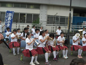 田島小20170720金管バンド1