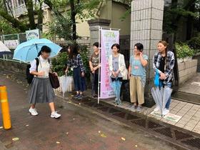 田島中20180828あいさつ運動2