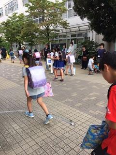 大久保小20170829あいさつ運動2