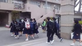 土合中20190326あいさつ運動2