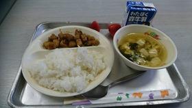 田島小20180309復興支援給食1