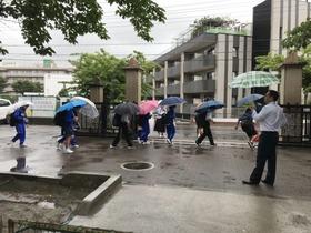 大久保中20180615避難訓練1