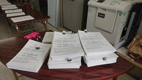 【土合中】令和3年度 PTA総会資料製本作業